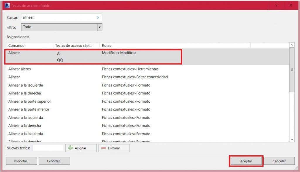 Configura tus shortcuts
